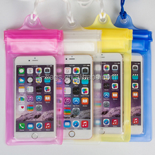 wholesale cheap price PVC waterproof phone bags for iphone with holder and customized logo