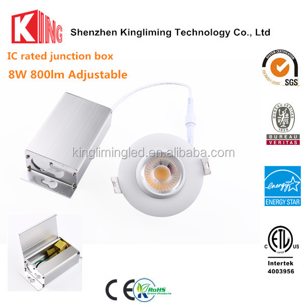 4000K 5 years warranty die casting aluminum led recessed lighting retrofit gimbal led downlight