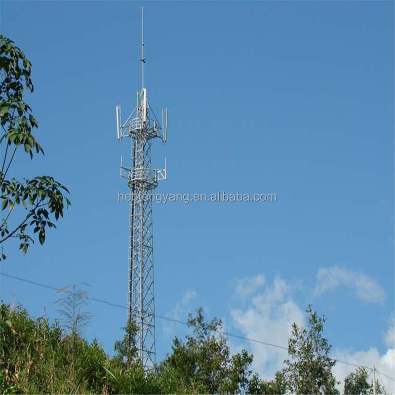 mobile telescopic antenna communication tower/ telecom high mast