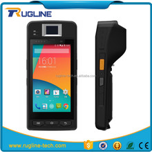 5 inch touch screen android mobile windows ce 6.0 pda with Printer