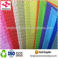 New Design Colorful PP polypropylene bubble dot Nonwoven Fabric