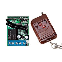DC 12V 24V 1 CH RF Wireless Remote Control Switch System,315/433 MHZ Transmitter + Receiver