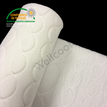 white circle 3d fabric for mattress and pad