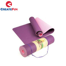 CreateFun personalizado eco friendly TPE tapete de yoga com saco