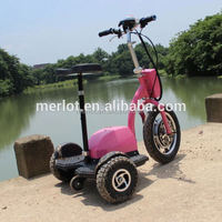 New design three wheeler standing up 50cc trike scooter with big front tire