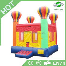 Attractive colorful art painted of 0.55mm PVC inflatable bouncer,animal bouncer, toys jumping bouncer