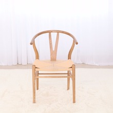 2018 new antique wood chair design leisure Wishbone Hans Wegner Y chair beech wood Ergonomic living room chair