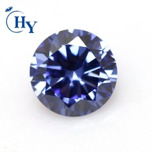 Stock Round cubic zirconia loose synthetic tanzanite stones for sale