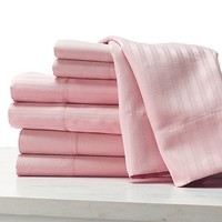 100% cotton Hotel Bed Sheet satin stripe fabric, hotel bedding set