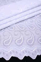 2014 African White Swiss Voile Lace Fabric,100% Cotton Lace