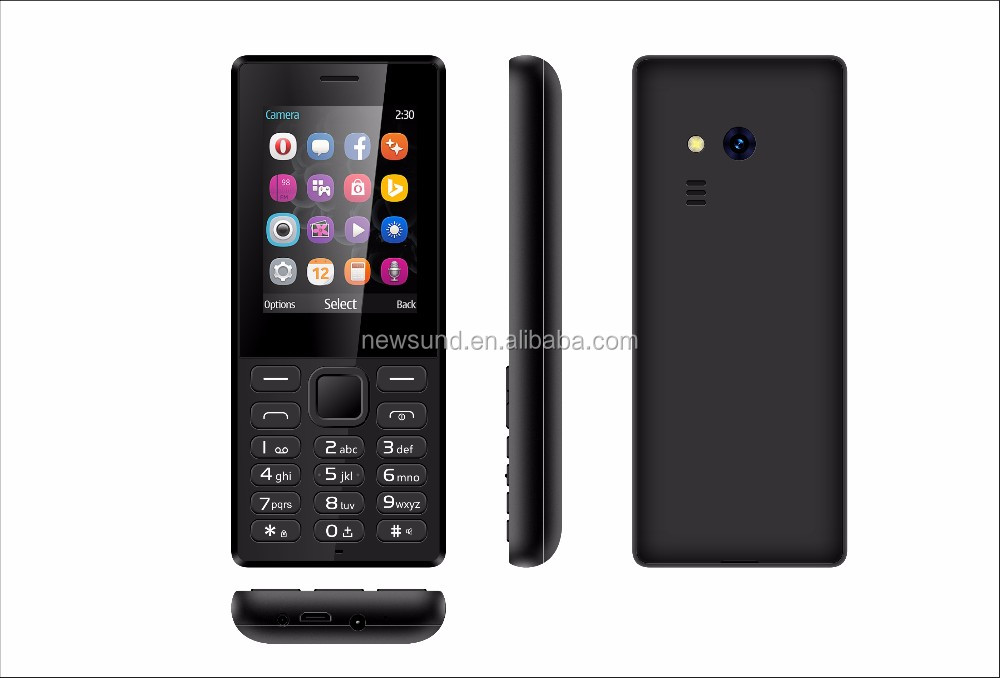 In stock New produc 2.4 inch quad band 2G GSM cell phone very slim feature phone with flashlight