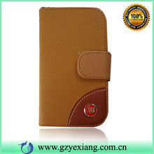 New Style Leather Flip Case For Samsung Galaxy Mini S5570 Back Cover