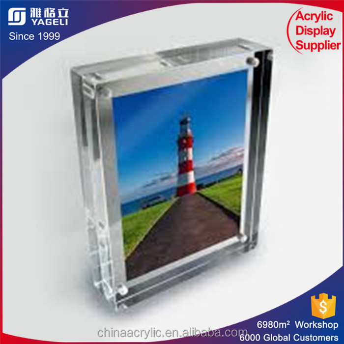 Transparent acrylic Customized 2 sided acrylic bulk picture frames 8x10