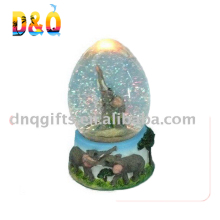 Cheap souvenir resin elephant water globe