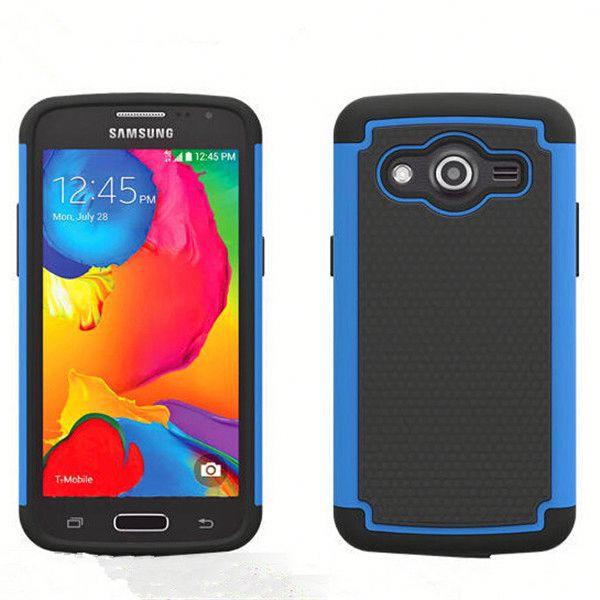 Hybrid combo case for Alcatel One Touch Fierce 2 with ball textured, for Alcatel One Touch Fierce 2 7040 hard case
