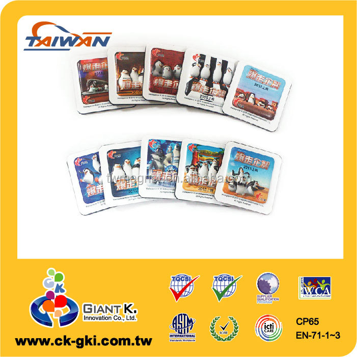 Best selling standard movie promotional 3D embossed size app magnet