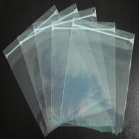 Hot sale transparent hdpe plastic zipper bag