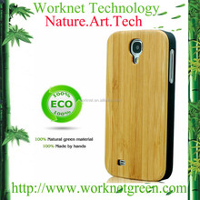 bamboo pc hard phone case for samsung galaxy s4 wood skin casings