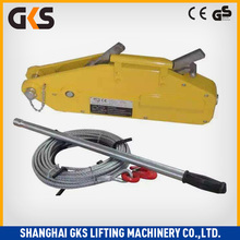 Hand wire rope winch/ 3200Kg Manual Cable Puller mooring tractor