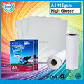 Hot selling A4 waterproof photo paper high glossy fuji inkjet photo paper