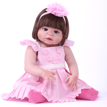 55cm Reborn Baby Girl Dolls Soft Silicone Vinyl Real Gentle Touch Bebe Reborn Child Play House Toys