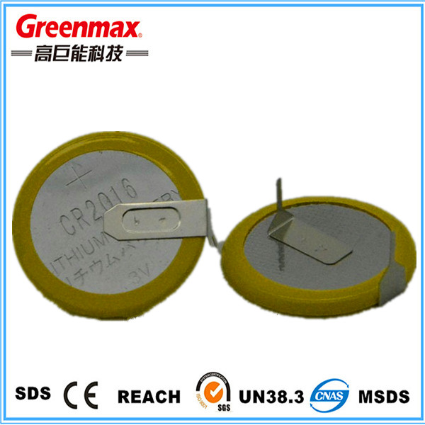 Button Cell Cr2016 Lithium Battery