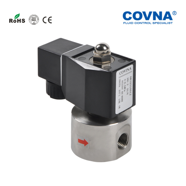 SS304 air compressed electric valve high pressure pilot operated piston construction injecting plastic machine water media valve