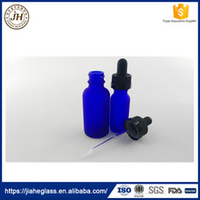 Frost Blue 15ml 30ml Dropper Round Boston Glass Bottle Wholesale Glass Vial for Essential Oil