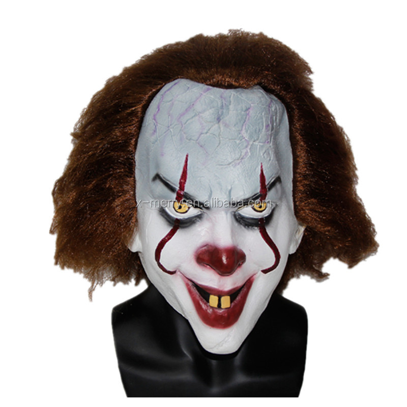 X-MERRY TOY 2017 Stephen King's Movie It Mask Pennywise Horror Clown Joker Mask Handmade x14080