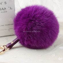 2016 colorful fake faux fur pom poms for keychain /garment
