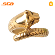 New Arrival 316L Stainless Steel Men Leopard Gold Plated Simple Ring