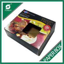 PAPER PACKAGING BOX WITH WINDOW FOR FULLY COOKED LAMB SHANKS BOX