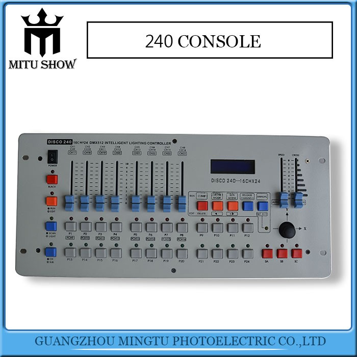 Hot selling disco 240 dmx controller wifi led dmx controller