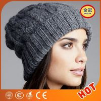Wool Cheap Adult 100 Acrylic Knit Women Winter Slouch Beanie Cap