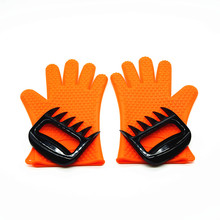 Silicone BBQ Gloves with Bear Claw Meat Shredder,Bear Paw Meat Handler
