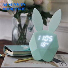 Colorful kids digital alarm clock with night-light