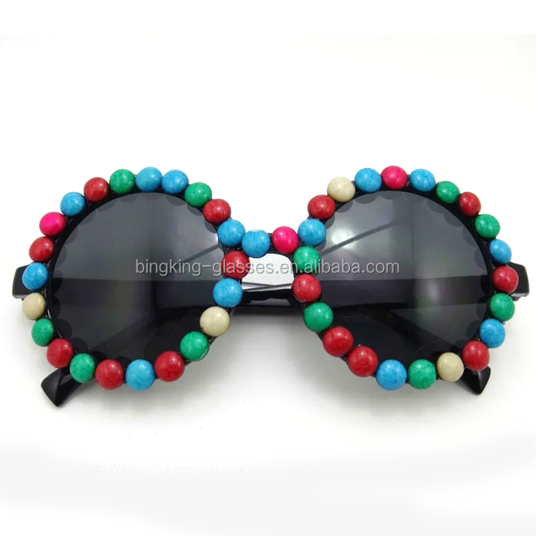 Goggle BKF1511053 Fantastic Able to bear or endure look classic color round bead edge round box sunglasses