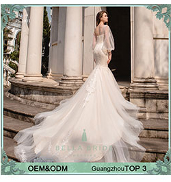 Beading Tulle Bandage Detachable Train Best Price Bridal Wedding Dress