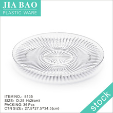 Transparent plastic separated plates Christmas decorative plastic plates acrylic plates