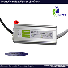 220v 12v waterproof constant voltage switching mode power supply 12v 6.66A 80w