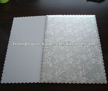 Embossing Sliver Cardboard Food Tray for Cake