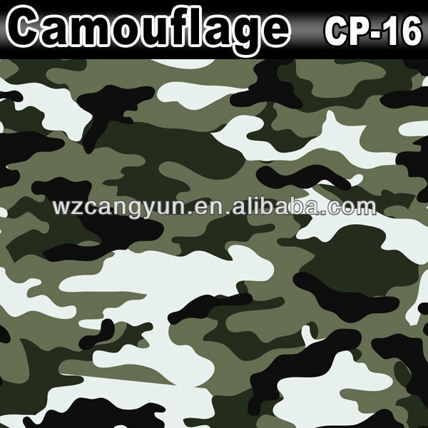 Fine Quality 1.52x30m Wrap Vinyl Camouflage Club Car Vinyl Stickers