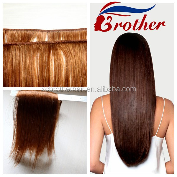 100% Remy Double Drawn Brazilian Human Hair Extensions Remy Hair Machine Weft