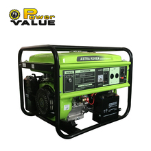 Astra Korea 188f high quality 100% copper 220v 5kw 5kva gasoline generator