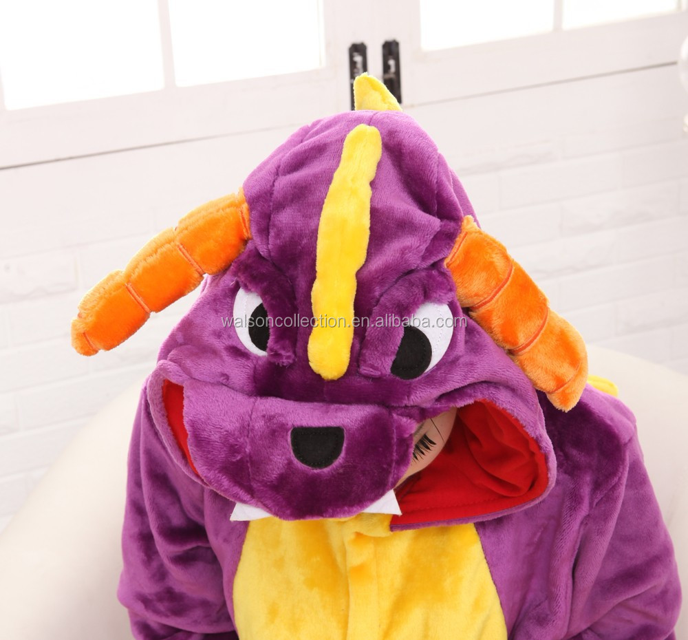 2015 Walsonstyles Cheapest Winter animal Onesie pajamas jumpsuit flannel adult jummp spyro the dragon pajama