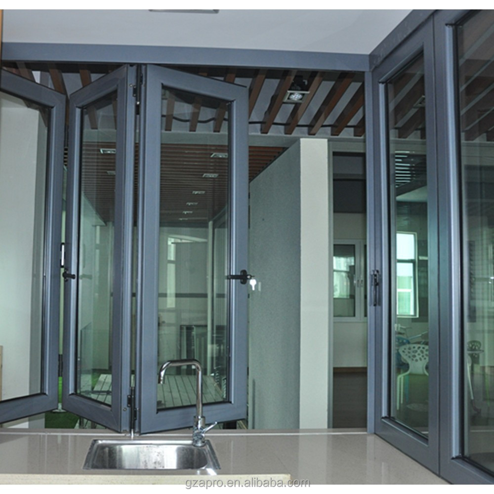 Aluminium bi folding window double glazed windows sound Folding window