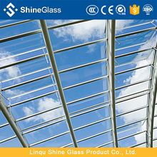 Glass roof tempered laminated glass with insulated glass automatically opening window