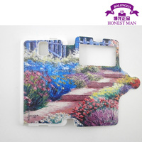 Picture printing wallet case for samsung galaxy note 3 credit card holder 3d cover case