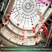 Custom commercial atrium curtain decoration for shopping mall office building