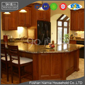 U shape corner luxury tall cabinet luxury italian solid wood kitchen cabinet
